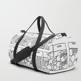Veggie Seeds Patten - Line Art Duffle Bag
