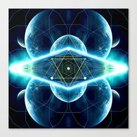 stargate Canvas Prints featuring Pleiadian Stargate by cosmik culture
