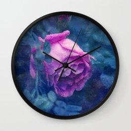 Blooming rose Wall Clock