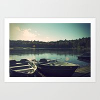 The Rowing Boats Art Print