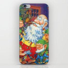 Santa & Elves in Workshop iPhone Skin