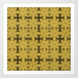 Primrose Yellow Abstract Art Print