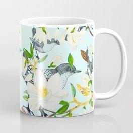 Flowered pattern with birds Coffee Mug