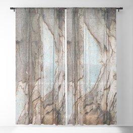 Eucalyptus Tree Bark 8 Sheer Curtain