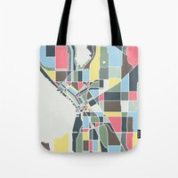 seattle Tote Bags featuring Seattle. by Studio Tesouro