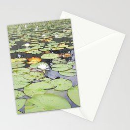395 - Abstract Lily Pads Design Stationery Cards