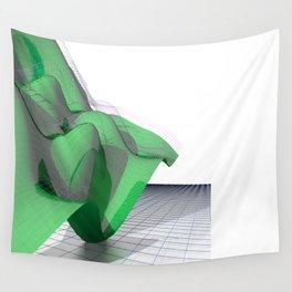 Waving Math Surface Green Wall Tapestry
