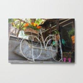 Bike garden Metal Print