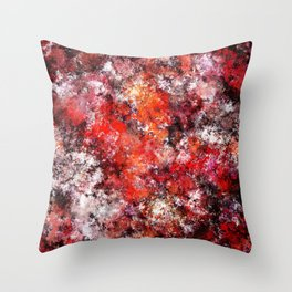The red sea foam Throw Pillow