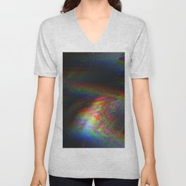 Rainbow Glitch Stain Unisex V-Neck