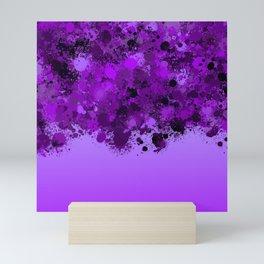 paint splatter on gradient pattern dp Mini Art Print