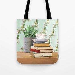 Tea and book love Tote Bag