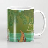 oregon Mugs featuring Oregon by Santiago Uceda
