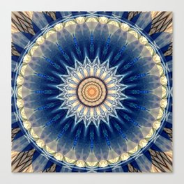 Mandala blue created by Tutti Canvas Print