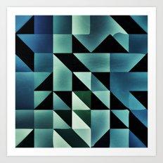 :: geometric maze VII :: Art Print