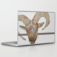 goat Laptop & iPad Skins featuring Goat by WaterLily
