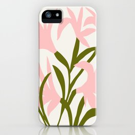 Floral Print, Flower Meadow, Large Giclee Print from Painting, Wall Art, Abstract Meadow Print, pink iPhone Case