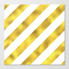 GOLD--STRIPE Canvas Print