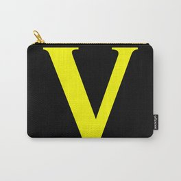 V MONOGRAM (YELLOW & BLACK) Carry-All Pouch