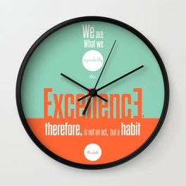 Lab No. 4- Aristotle Quote motivational typography Quote Poster Wall Clock