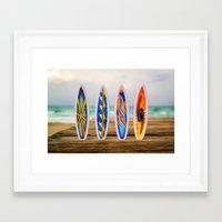 surfboard Framed Art Prints featuring Surfboard by Leonardo Vega