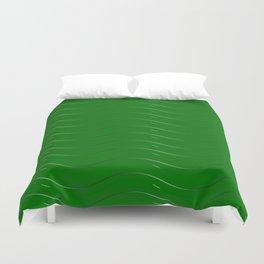 Green waves Duvet Cover