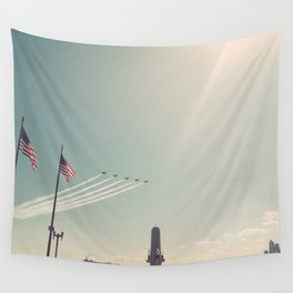 Blue Angel Jets Flying Color Photo Wall Tapestry