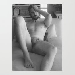 Nude Male Soft Light Poster