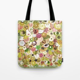 Fruit Madness (All The Fruits) Vintage Tote Bag