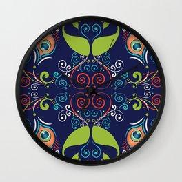 Peacock Nouveau Wall Clock