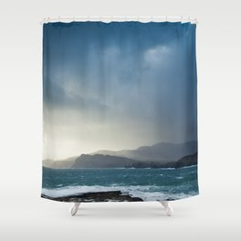 Slieve League during Storm Jake Shower Curtain