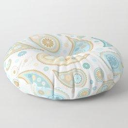Paisley Funky Design Blues Creams & Caramels Floor Pillow