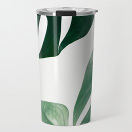 Plant, Green, Monstera, Leaf, Minimal, Trendy decor, Interior, Wall art, Photo Travel Mug