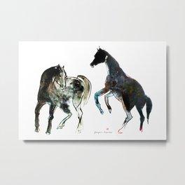 Horses (Fight) Metal Print