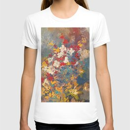 acrylic floral design by joel seguin T-shirt