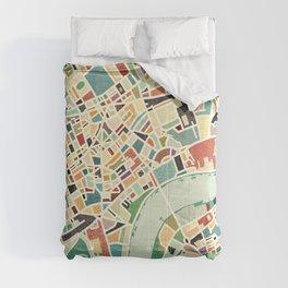 CITY OF LONDON MAP ART 01 Comforters