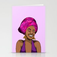 mcfreshcreates Stationery Cards featuring Her Joy by McfreshCreates