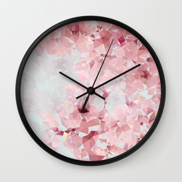 Meshed Up Sakura Blossoms Wall Clock