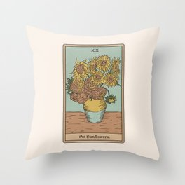 The Sunflowers Throw Pillow