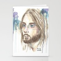 jared leto Stationery Cards featuring Leto by SirScm