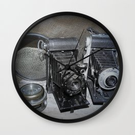Vintage Lenses. Wall Clock