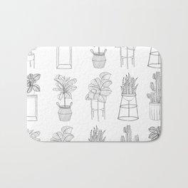 Houseplants Pattern Bath Mat