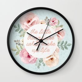 The Little Things Wall Clock