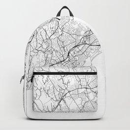 Bridgeport Map White Backpack