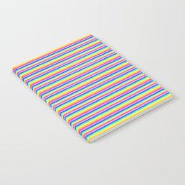 Rainbow Stripe Pattern Notebook