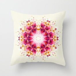 Butterflies Mandala Throw Pillow