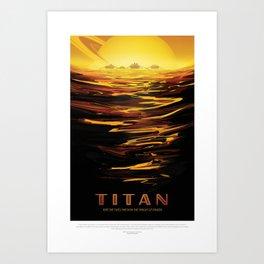 NASA Visions of the Future - Titan: Ride the tides through the throat of Kraken Art Print