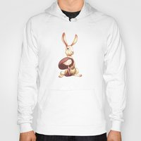 hare Hoodies featuring Hare Day by Jaana Heiska