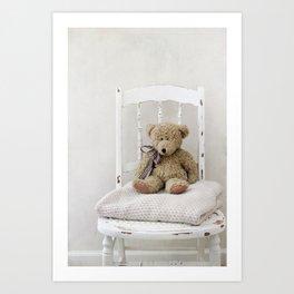 Teddy Chair  Art Print