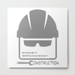 Emmet Brickowski Construction Metal Print